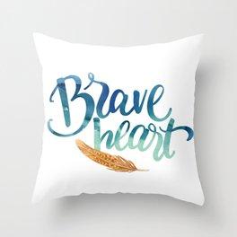 Brave Heart Throw Pillow