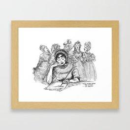 """""""Jane Austen Among the Women"""" Framed Art Print"""