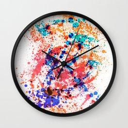 Wild Style - Abstract Splatter Style Wall Clock