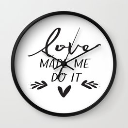 Love Sign Anniversary Decor Engagement Gift Valentines Day Decor Gift For Her Romantic Gifts For Him Wall Clock