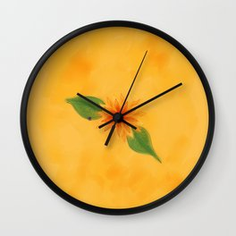 The Flower of Simplicity Wall Clock