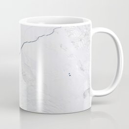 Open water lead above Canada, Arctic Ocean Coffee Mug