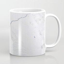 Open water lead above Canada, Arctic Ocean Coffee Mug