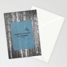 ee cummings - songbirds. Stationery Cards