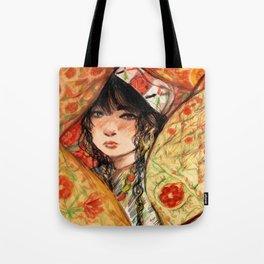 Hidden Girl Tote Bag