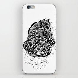 Hong Kong Dim Sum Wonton Doodle in BW iPhone Skin