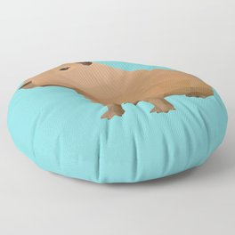 Capybara Polygon Art Floor Pillow