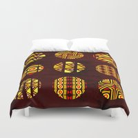 planets Duvet Covers featuring africa planets by d.ts