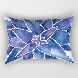 Aloe Vera – Navy Palette Rectangular Pillow
