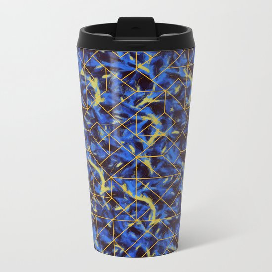 The Blue and Yellow Metal Travel Mug