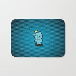 Blue Dead Bear Bath Mat