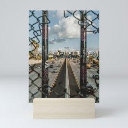 San Diego Skyline and the Freeway Mini Art Print
