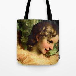 """Antonio Allegri da Correggio """"Madonna of St. Jerome""""(detail) Angel Tote Bag"""