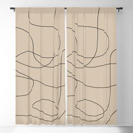 Abstract Shapes VI Blackout Curtain