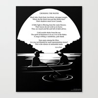 sylvia plath Canvas Prints featuring Crossing the Water (poem) by Sylvia Plath by People Matter Creative