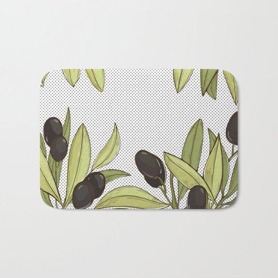Olive Comfort Bath Mat