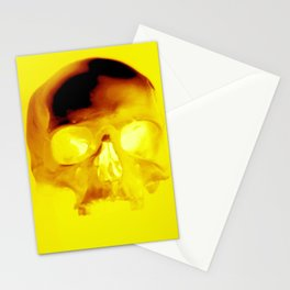 Yellow Skull Stationery Cards
