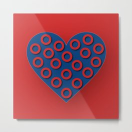 Fishman Donuts Heart Metal Print