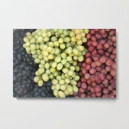 Grapes at the Market Metal Print