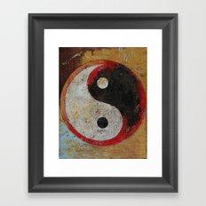 Yin Yang Dragon Framed Art Print