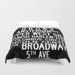NYC Salsa Duvet Cover