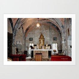 Chapel of the Castle of Chimay - Belgium Art Print