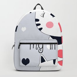 CAT AND HEART Backpack