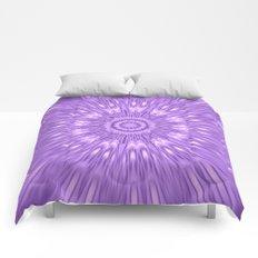 Lavender Purple Mandala Explosion Comforters