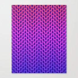 Rick Rack Pink Ombre Canvas Print