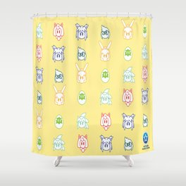 Draco the Dragon Character Pattern Shower Curtain