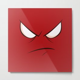 Angry Face (red) Metal Print