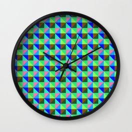 Eight Triangles Invert Wall Clock