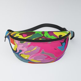 Pop Art Pug  Portrait Fanny Pack