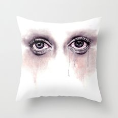 Bloodshot Eyes Doodle  Throw Pillow