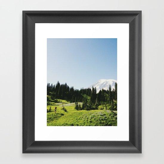 Mt Rainier Shooter Framed Art Print