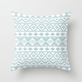 Aztec Essence Ptn IIIb Duck Egg Blue & White Throw Pillow