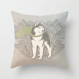 Fearless Creature: Eski Throw Pillow