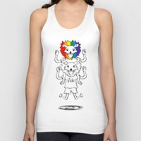 bisexual Tank Tops featuring Gay Pride Lions by mailboxdisco