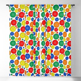 colorful scattered buttons Blackout Curtain
