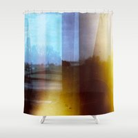 drive Shower Curtains featuring Drive by EasyTiger