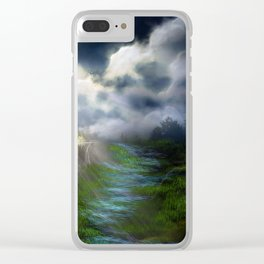 Light and Shadow Clear iPhone Case