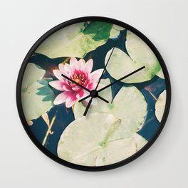 Water Lily Flower Wall Clock