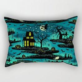 Halloween Night - Fox Fire Green Rectangular Pillow