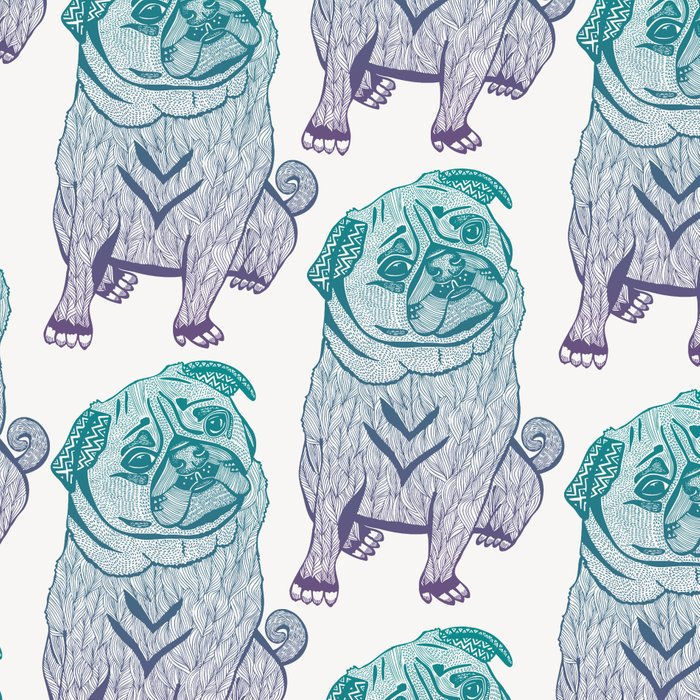 Duotone Pug Leggings