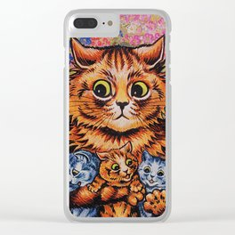 Cat and Her Kittens-Louis Wain Cats Clear iPhone Case