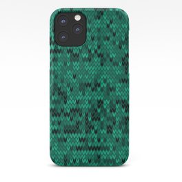 Green knitted textiles iPhone Case