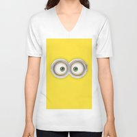 banana V-neck T-shirts featuring Banana! by MrWhite