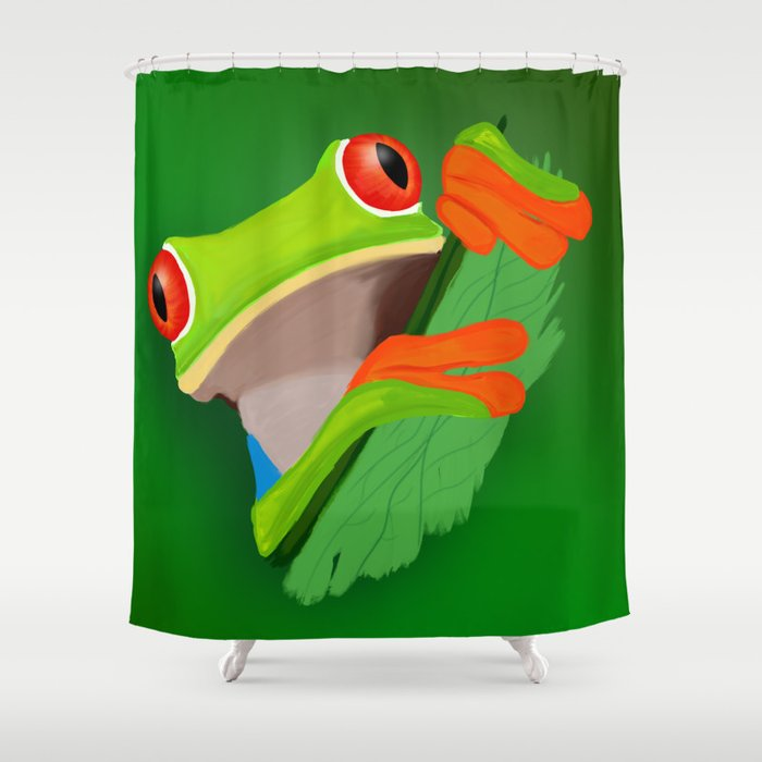 Red Eyed Tree Frog Shower Curtain By Amb Creation