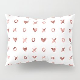 XOXO Love Me Rose Gold Pattern Pillow Sham