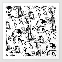 numbers Art Prints featuring Numbers by M. Noelle Studios
